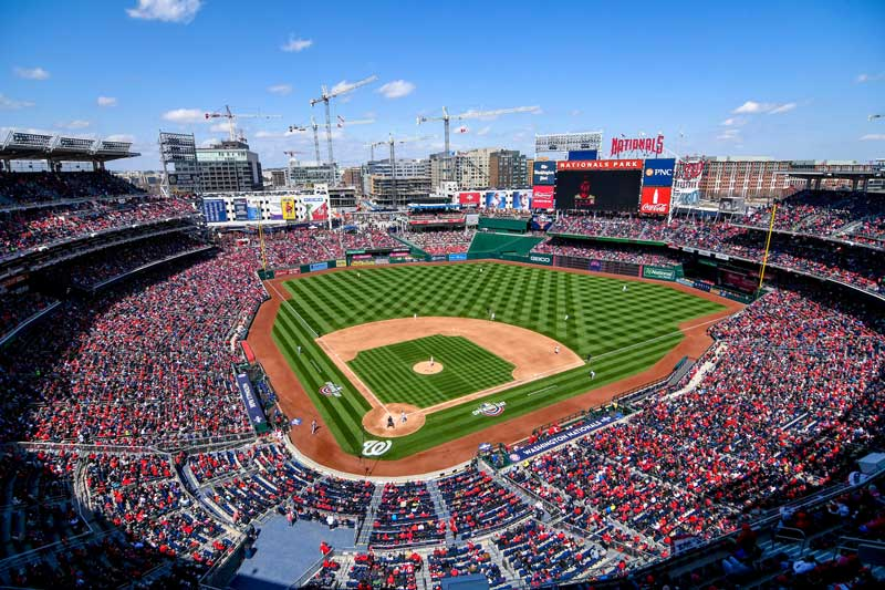 Sunny day at Washington Nationals baseball game - Things to do in Washington, DC's Capitol Riverfront neighborhood