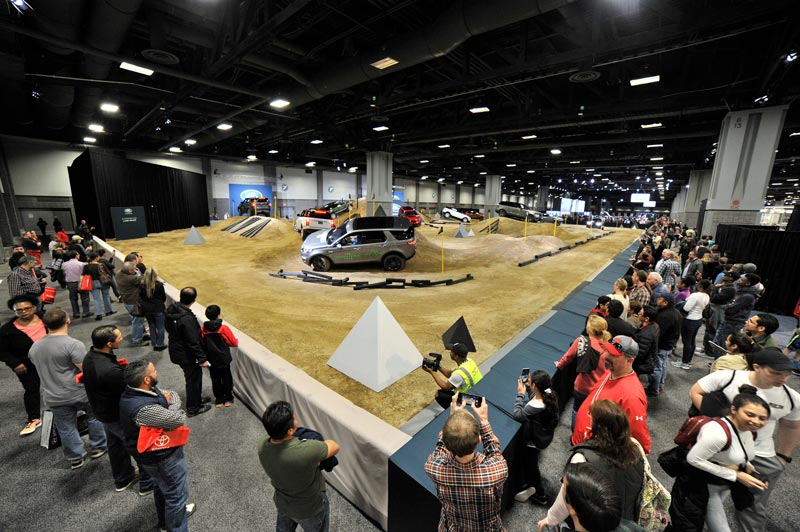 Land Rover stunt course at the Washington Auto Show - Interactive indoor event and car show in Washington, DC