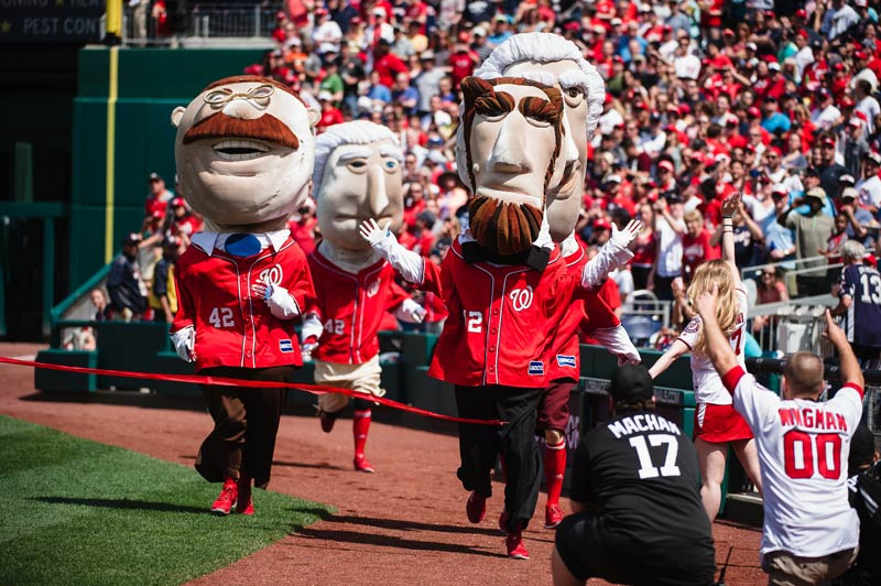 Racing Presidents at Washington Nationals baseball game - Things to do this spring and summer in Washington, DC