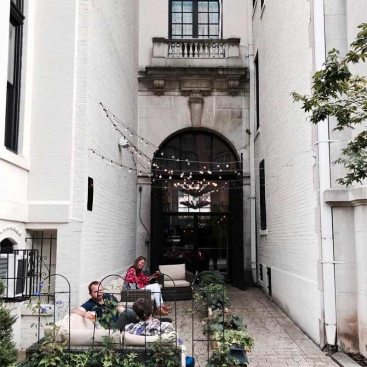 @aylinsevgili - Front entrance to Iron Gate Restaurant in Dupont Circle - Romantic restaurant in Washington, DC