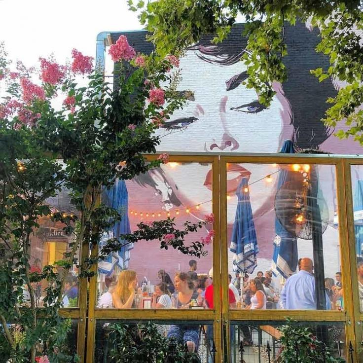 @melissabeat - Dacha Beer Garden and Liz Taylor Mural in Shaw - Best things to do in Washington, DC's Shaw neighborhood