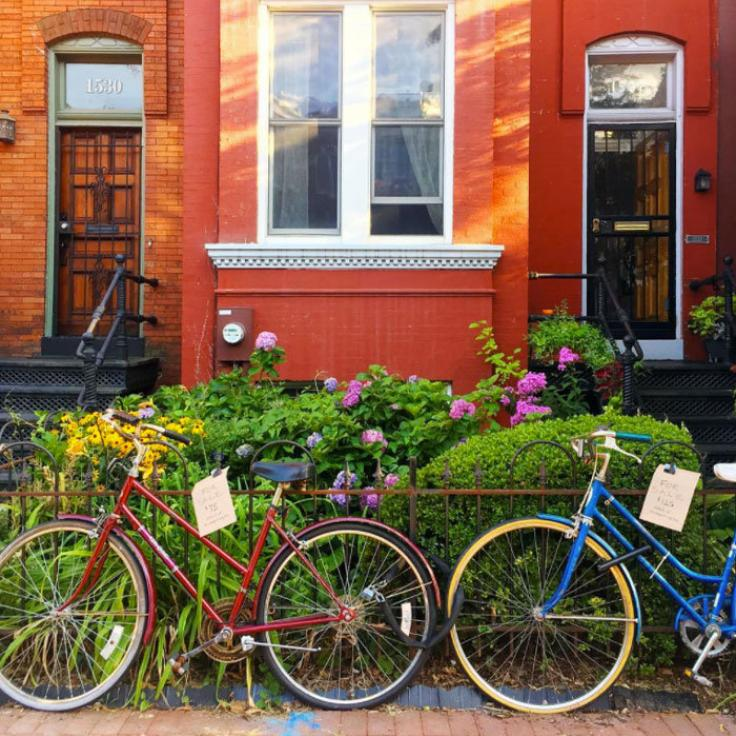 @smaturu - Bikes in front of Dupont Circle rowhouse - Washington, DC neighborhoods