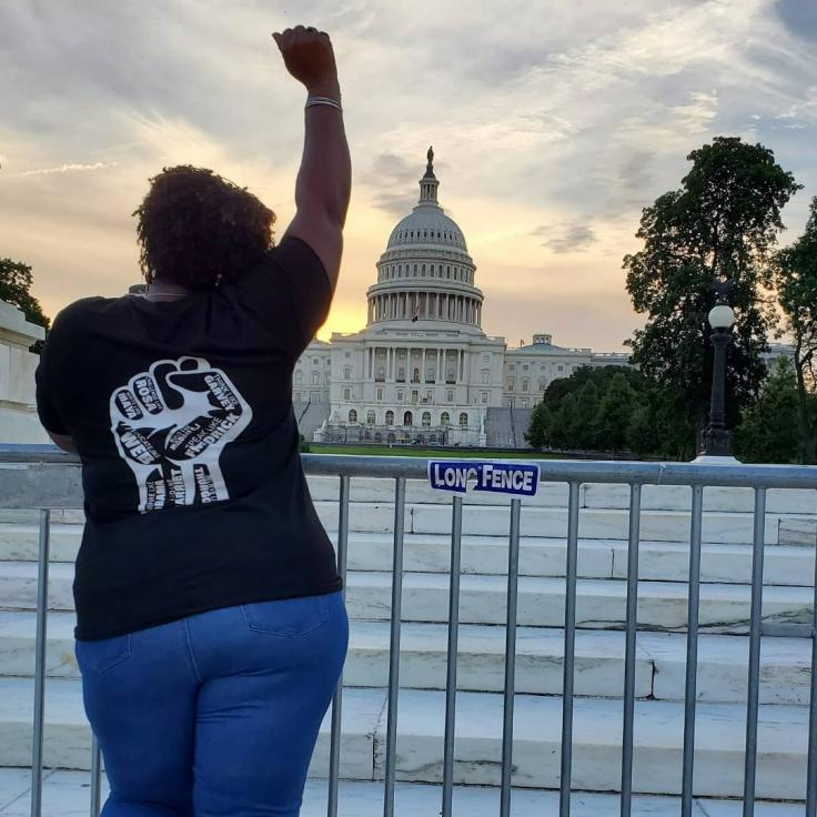 @whereishersnapshots - Black Woman in front of Capitol Building